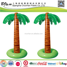 ISO factory OEM wholesales indoor party decoration coconut tree display standing toys pvc inflatable palm tree
