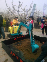 Coin Controlled electric excavator, kids ride on toy excavator