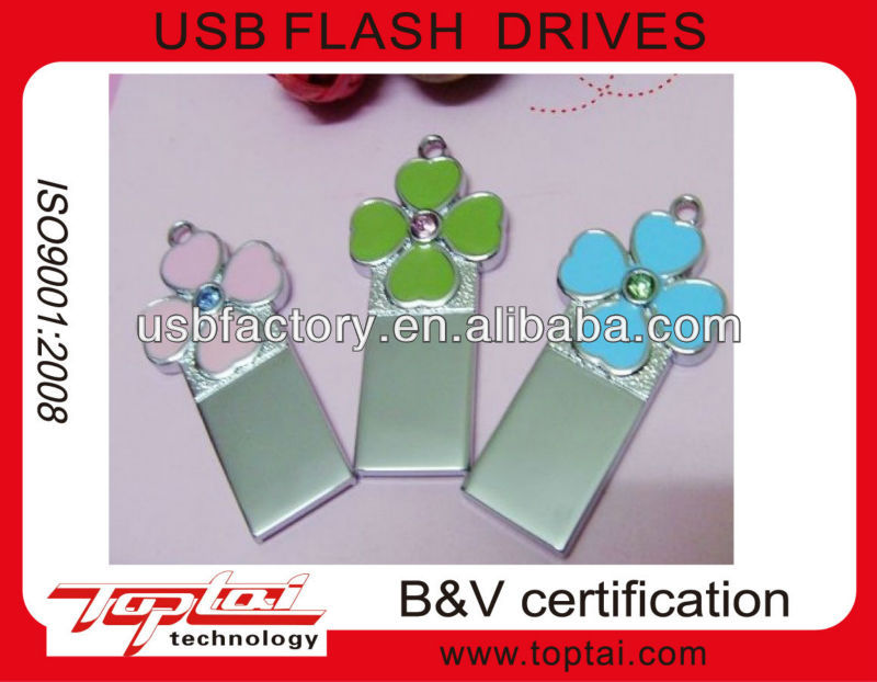 flower design usb memory, customized usb flash drives