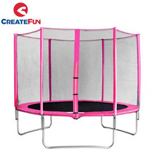 CreateFun kids 6ft 8ft 10ft 12ft 13ft 14ft 15ft 16ft pink trampoline for sale