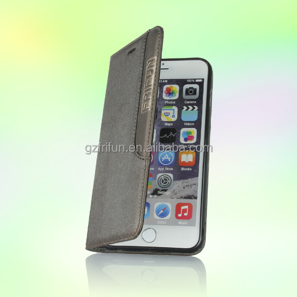 High quality good price leather case, flip back cover for iphone