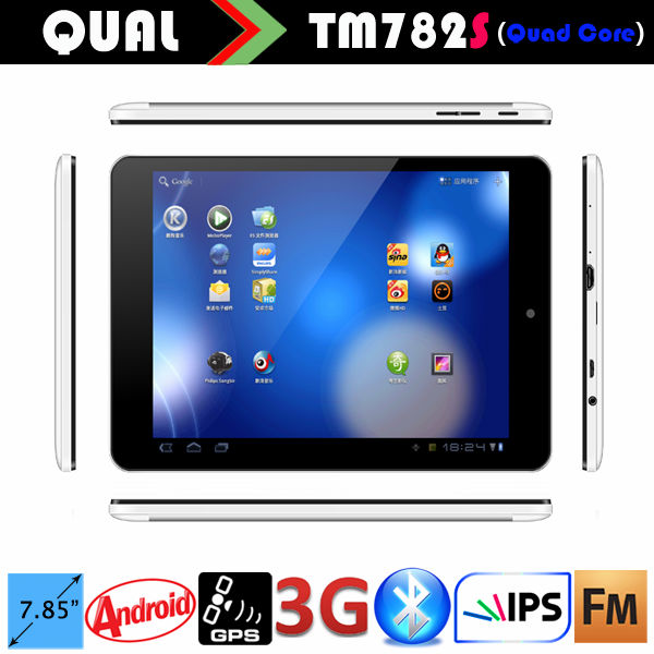 7.85 inch Bluetooth MTK8312 IPS Display tablet pc Android 4.4 Quad Core 3G phone call GPS FM full function B