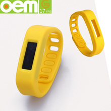 large factory oem silicone bracelet with pedometer for kids