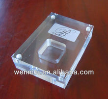 Clear acrylic jewelry diamond box for rings