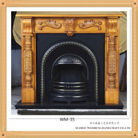 Wooden western fireplace mantel
