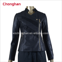 Chonghan 2017 New Style Sexy Ladies Summer Leather Jacket In Dubai