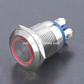 Screw terminal push button switch with stainless steel momentary