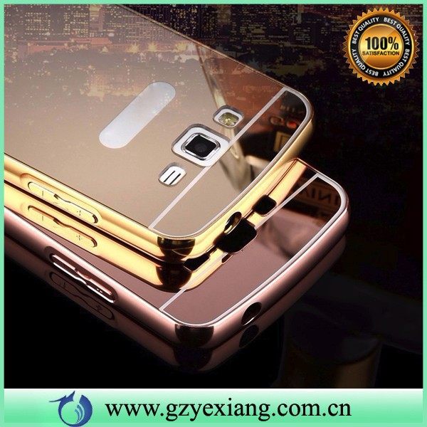 perfect fit mirror phone case for samsung gt 18552 metal bumper case