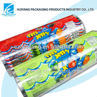Heat sealed printable plastic food safe packaging laminating film