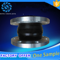 Single double arch union flanged rubber expansion joints pn16 class150