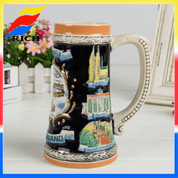 custom german tradition ceramic beer mugs steins for sale antique stoneware in China products