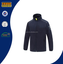 oem 2016 high quality in plain custom wholesale navy cotton polar fleece jacket