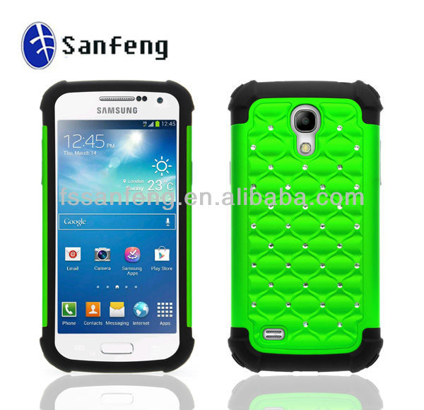Newest model cell phone accessories for samsung galaxy s4 mini i9190 original phone/for hybrid case s4 mini phone cover green