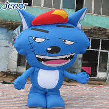 Chinese Cartoon Character Inflatable Blue Big Wolf Model for Party Decoration