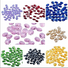 chandelier color loose crystal glass octagon beads parts