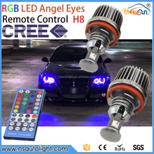 Newsun plug and play ce rohs 12v led modified car accessory e90 led rgb angel eye daytime running light for bmw e60