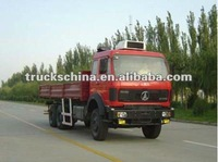 China North Benz 6*6 375hp lorry/cargo truck with container carrying bed