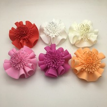 New design high quality artificial hawaiian PE foam flower with lace