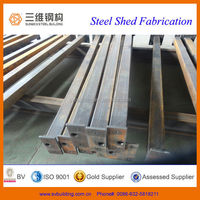 Professional design structural steel frame /construction steel shed