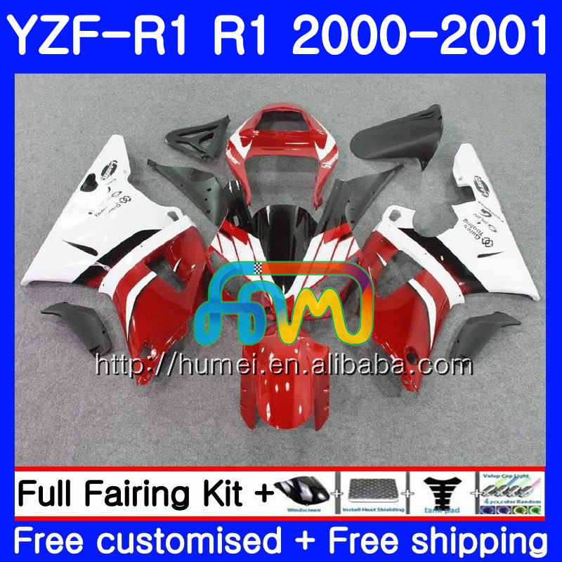 Bodywork For YAMAHA YZF 1000 red black YZF-<strong>R1</strong> 2000 2001 Body 98HM48 YZF1000 YZF R 1 YZFR1 <strong>00</strong> <strong>01</strong> YZF-1000 YZF <strong>R1</strong> <strong>00</strong> <strong>01</strong> Fairing