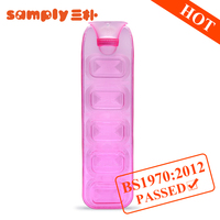 2016 new plastic products PVC hot water bottle/bag with BS standard Belt