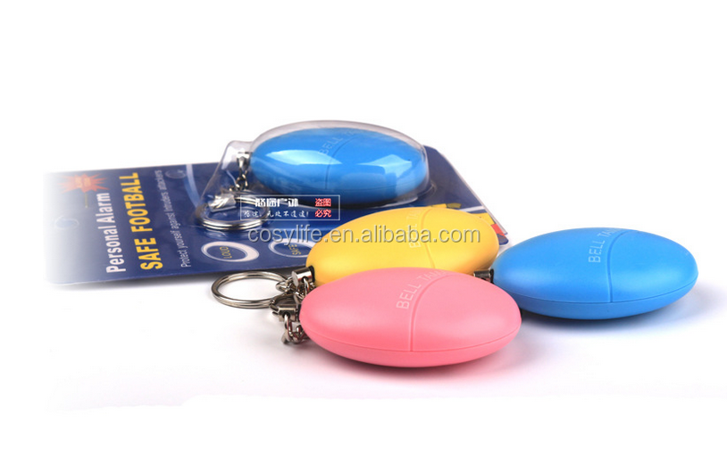120db Anti Wolf Alarm Egg Shaped Security Protect Alert Personal Safety Scream Loud Keychain Alarm For Elderly, Kids, Women