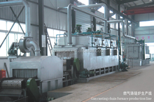 Wire belt conveyed industrial natural gas heating furnace