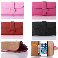 OEM manufacture Luxury design leather cover case for iphone 6 plus