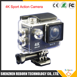 2016 4K wifi waterproof spots action camera with dual screen