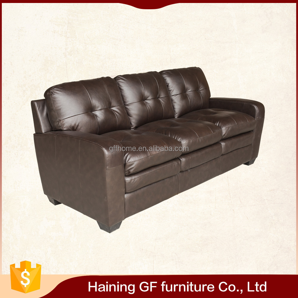 casual chic design top grain dark chocolate leather home theater recliner sofa