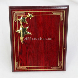 MDF wood blank plaque with star