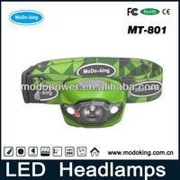 Led animal headlamps with different color and design