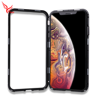 360 Degree Colorful Full Cover Adsorption Metal Tempered Glass Magnetic Mobile Phone Cases For iphone XR XS Max X 8plus 7plus