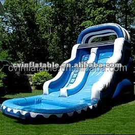 inflatable water slide for adult and kids ; inflatable 2014 hotselling double slide water slide with pool