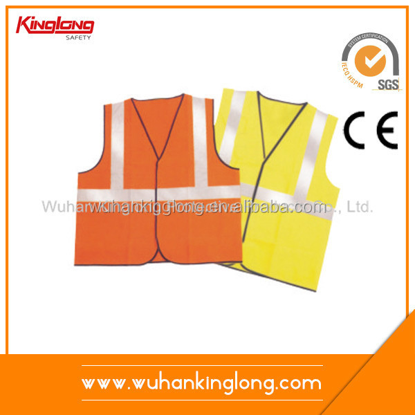 EN 471 Hi vis reflecting vest with pockets and zipper