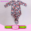 Protect Newborn Baby Long Sleeve Sleeping Sack Floral Printed Nest Infant Baby Knot Gown for 0-24M baby