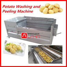 New convenient commercial washing brush roll vegetable cleaning onion washing machine stainless steel