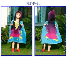 High quality popular children velour cashmere rain poncho