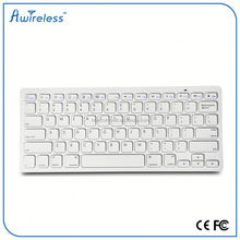 Factory price 2.4GHz wireless bluetooth keyboard for pc laptop With ABS Keys+Plastic Shell thin 6.7 mm
