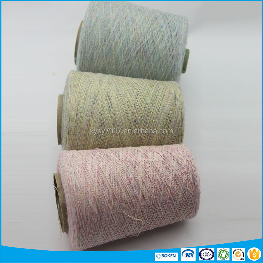 Ramie cotton and polyester blended yarn for knitting sweater