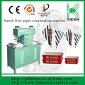 semi auto machine for paper fries cone&professional machine for paper cone