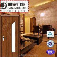 wood glass panel door design
