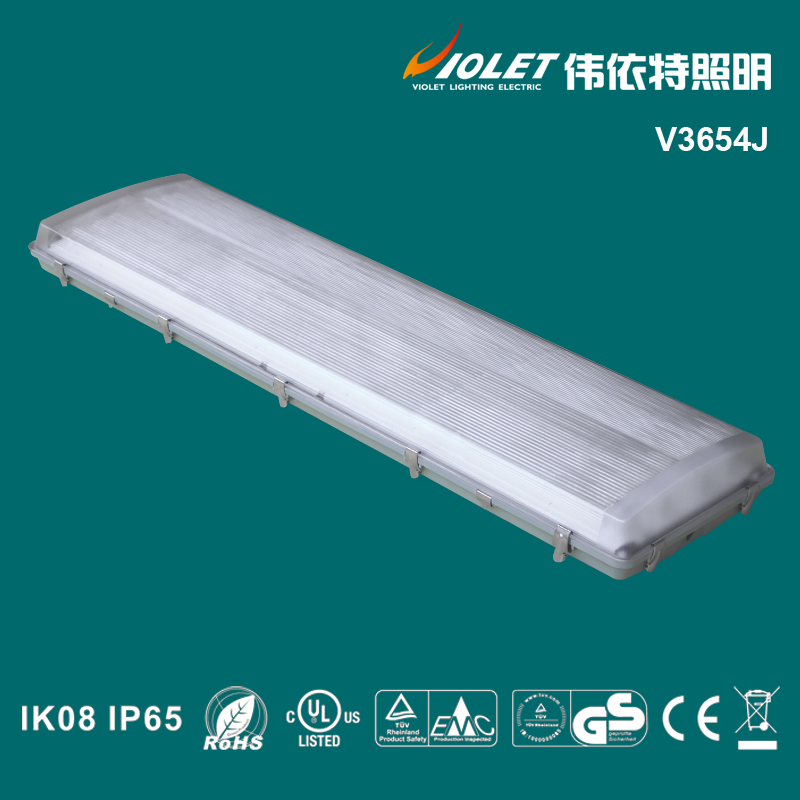 China Product fluorescent lights PC cover tri-proof light fixture