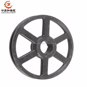 OEM small pulley wheel agricultural cast iron cart wheel for agricultural parts