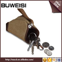 OEM brand small gift triangle coin purse custom canvas coin purse for men