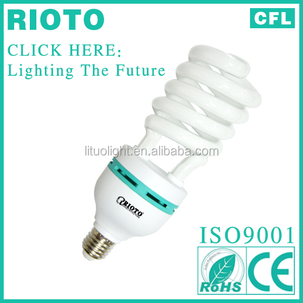 85W Half Spiral CFL light bulb Energy saving lamp factory