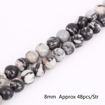 Wholesale 8mm Natural Black Network Zebra Stripes Stone Beads for DIY Bracelet Necklace Jewelry Making,yiwu