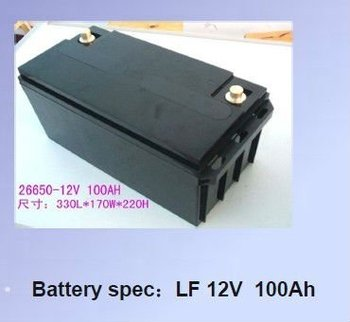 12V, 100Ah Power Grid LiFePO4 Battery Pack, with 5C Maximum Peak Discharge Current
