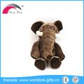 brown custom cheap plush stuffy toy elephant