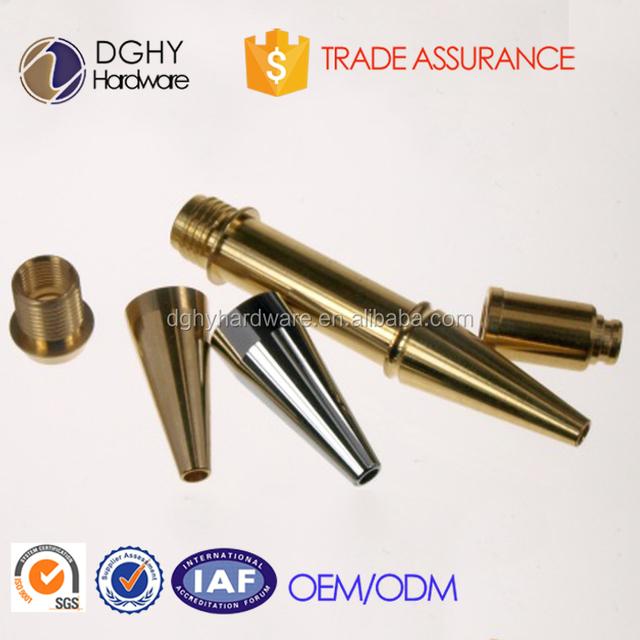Customized aluminum cnc turning pen parts,brass parts